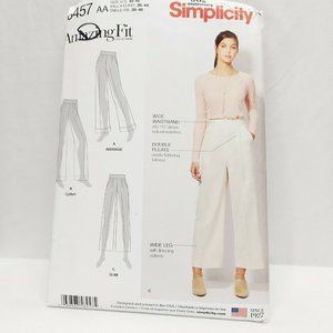 Simplicity 8457 Misses Trousers in 2 Lengths Pocke
